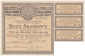 Bilet Skarbowy, 1.000 mkp 1920 - Serja I AG