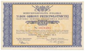 Bon Obrony Przeciwlotniczej, 20 zł 1939