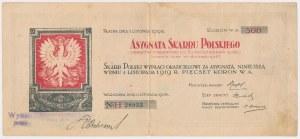 Asygnata Skarbu Polskiego, 500 koron 1918 - ex. Lucow - b.rzadki
