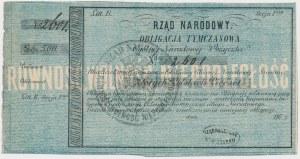 Powstanie Styczniowe, Obligacja tymczasowa 500 złotych 1863 - z dwoma stemplami