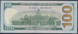 United States, 100 Dollars 2017 - solid number - 44444444