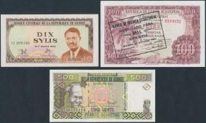 Guinea - banknotes lot (3pcs)