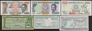 Ethiopia, Tanzania, Burundi, Rwanda - banknotes lot (6pcs)