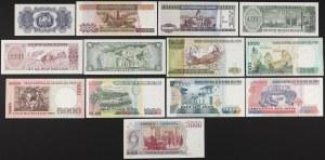 Argentyna, Boliwia i Peru - zestaw banknotów (13szt)