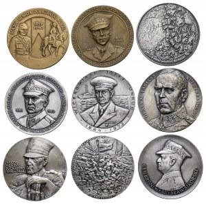 PRL, medale o tematyce II Wojny Światowej - zestaw (9szt)
