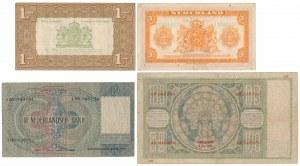 Netherlands, 1 -100 Gulden 1935-43 (4pcs)