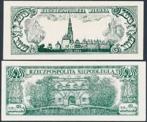 Solidarność, Rzeczpospolita Wierna i Niepodległa - Wyszyński i Piłsudski (2szt)