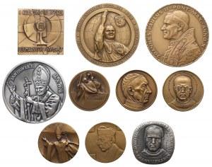 PRL, Medale o tematyce religijnej, Jan Paweł II i inne (10szt)