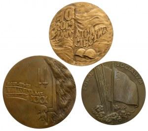 PRL, Medale - 30 i 40 rocznica zwycięstwa, zestaw (3szt)