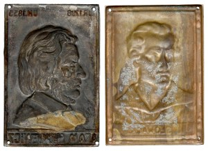 Plakietki - Juliusz Słowacki i Adam Mickiewicz, zestaw (2szt)
