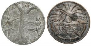 Medal Pomorska Izba Rolnicza 1926 i ODLEW medalu Powstanie Kościuszkowskie 1917 (2szt)