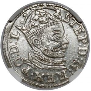 Stefan Batory, Trojak Ryga 1583 - piękny
