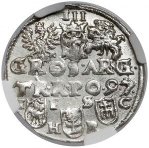 Zygmunt III Waza, Trojak Bydgoszcz 1597 - PIĘKNY
