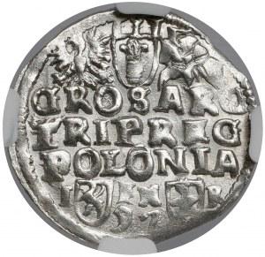 Zygmunt III Waza, Trojak Poznań 1597 - rzadkie i PIĘKNY