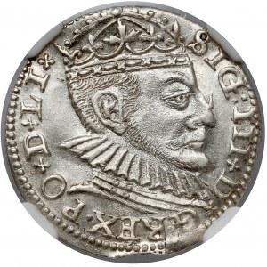 Zygmunt III Waza, Trojak Ryga 1590 - duża głowa - PIĘKNY