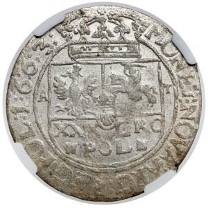 Jan II Kazimierz, Tymf Lwów 1663 - mały monogram - RZADKI