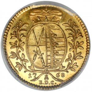 Saksonia, Fryderyk August III, Dukat 1768 EDC, Drezno - PIĘKNY