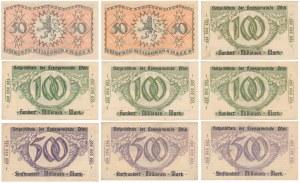 Pfalz - pakiet notgeldów 50-500 mln mk 1923 (9szt)