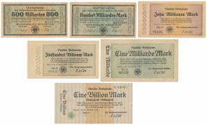 Germany, Deutsche Reichsbahn 1923 (6pcs)