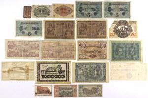 Niemcy, zestaw banknotów i notgeldów MIX (20szt)