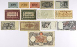 Italy - lot of 14 papers - banknotes and checks