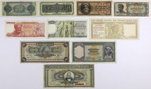 Greece - lot of 10 of banknotes 1926-1968