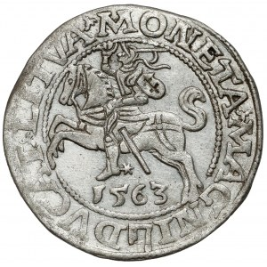 Zygmunt II August, Półgrosz Wilno 1563 - duża Pogoń - LITVA