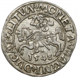 Zygmunt II August, Półgrosz Wilno 1548 - arabska