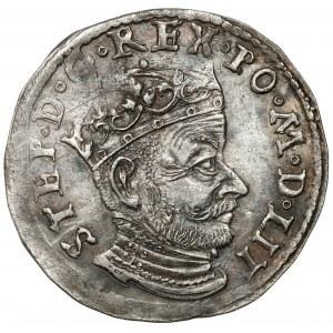 Stefan Batory, Trojak Wilno 1580 - niski portret - bardzo rzadki