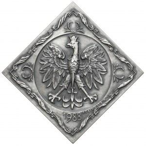 Medal SREBRO Piłsudski, 70.rocznica Odzyskania Niepodległości 1988 - RZADKI