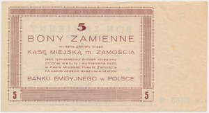 Zamość, 5 złotych 1944