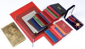Krzyż 95 lat ZIW RP, pakiet pustych okładek legitymacji i dawny pamiętnik