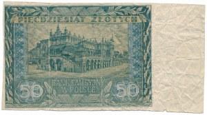 50 złotych 1941 - bez serii i numeru - przycięty