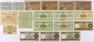 Bony PEWEX, kartki żywnościowe, notgeldy MIX (18szt)
