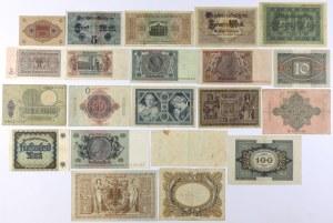 Niemcy, zestaw banknotów MIX (21szt)