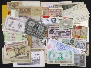 Zestaw banknotów, cegiełek, itp., w tym 2 złote 1940 UNC . (~179szt)