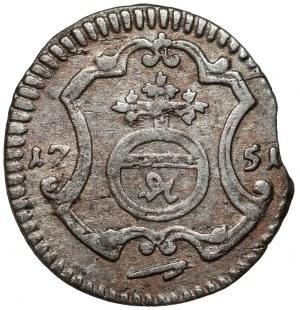 August III Sas, Halerz 1751 FWóF, Drezno