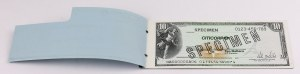 United States, CITICORP Travelers Checks SPECIMENS full book $10 - $1.000