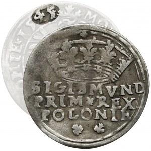 Zygmunt I Stary, Grosz Kraków 1545 - przebitka z 1544