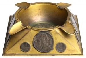 Popielniczka z monetami PRL - wykonanie MENNICY Państwowej 1959 r.