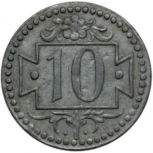 Gdańsk, 10 fenigów 1920 cynk - 56 perełek - typ N