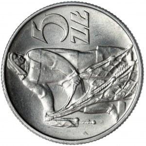 Rybak 5 złotych 1974 - SKRĘTKA i słoneczko