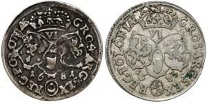 Jan III Sobieski, Szóstaki Bydgoszcz 1681 i 1683 (2szt)