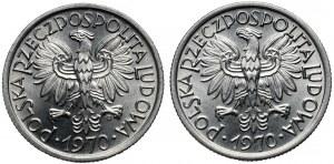 2 złote 1970 - dwie odmiany daty (2szt)