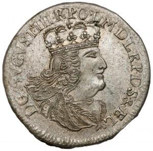 August III Sas, Szóstak Elbląg 1762 ICS - rzadki i piękny