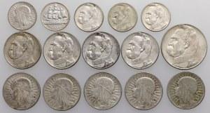 II RP zestaw srebrnych monet (15szt)