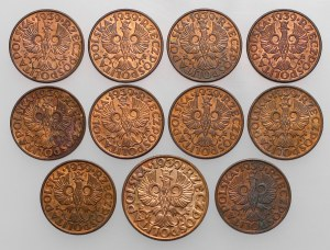 2 i 5 groszy 1939 (11szt)