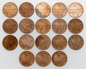 5 groszy 1939, zestaw (18szt)