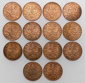 5 groszy 1939, zestaw (14szt)