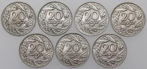 20 groszy 1923 - mennicze - (7szt)
